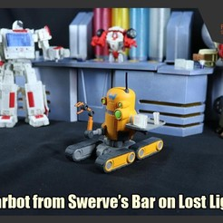 Download 3D printing templates Barbot from Swerve's Bar on Lost Light, FunbieStudios