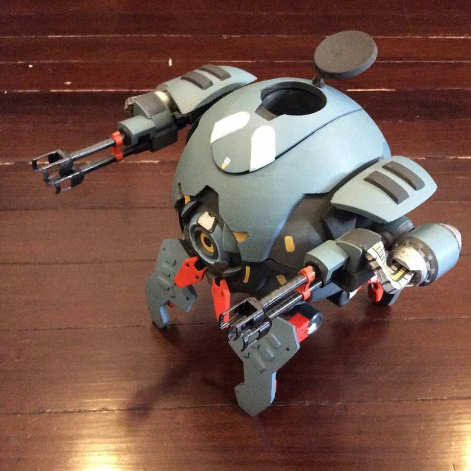 05.jpg Download STL file Hammond's Wrecking Ball Mech from Overwatch • 3D printer template, FunbieStudios