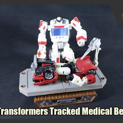 Download 3D model Transformers Tracked Medical Bed, FunbieStudios