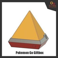Descargar diseños 3D gratis Pokemon Go Caja de regalo, FunbieStudios