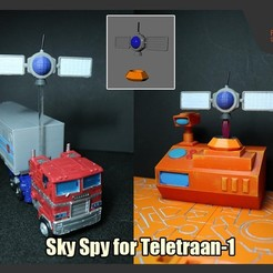 Download 3D printer model Sky Spy for Transformers Teletraan-1, FunbieStudios