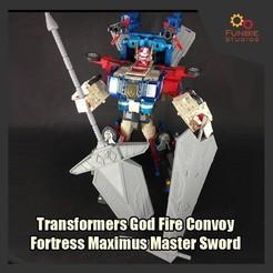 Download 3D model Transformers God Fire Convoy / Fortress Maximus Master Sword, FunbieStudios