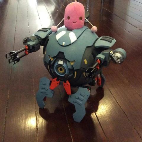 01.jpg Download STL file Hammond's Wrecking Ball Mech from Overwatch • 3D printer template, FunbieStudios