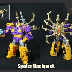 SpiderBackpack_FS.jpg Download STL file Spider Backpack for Transformers • 3D printable design, FunbieStudios