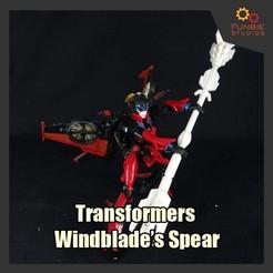 Descargar diseños 3D Transformadores Combinador Hunter Windblade's Spear, FunbieStudios
