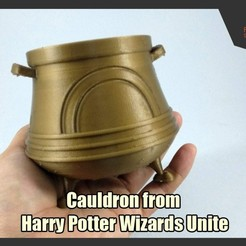 HPWU_Cauldron_FS.jpg Download free STL file Cauldron from Harry Potter Wizards Unite • 3D printable template, FunbieStudios