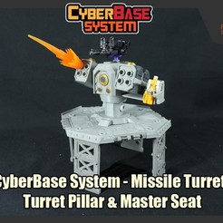 Download 3D printing designs [CyberBase System] Missile Turret, Turret Pillar and Master Seat, FunbieStudios
