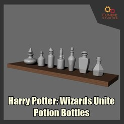 STL files Harry Potter Wizards Unite - Potion Bottles, FunbieStudios