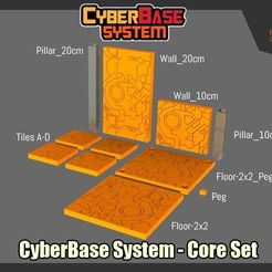 Descargar Modelos 3D para imprimir gratis CyberBase Display System for Transformers - Core Set, FunbieStudios