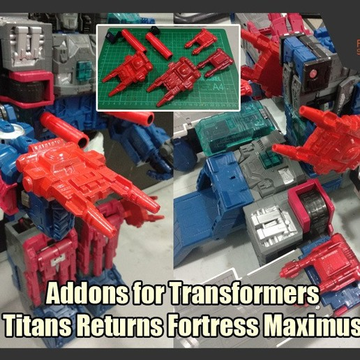 Download STL file Addons for Transformers Titans Return Fortress Maximus, FunbieStudios