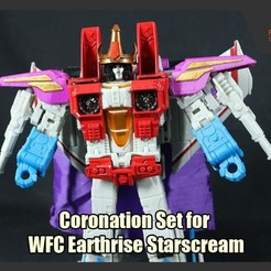 Download free 3D printer templates Coronation Set for WFC Earthrise Starscream, FunbieStudios