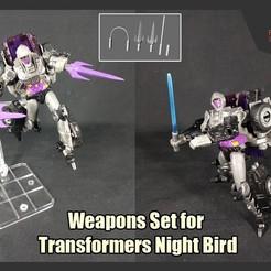 Télécharger fichier 3D Armes prêtes pour Transformers Night Bird, FunbieStudios