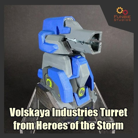 3D printer models Volskaya Industries Turret from Heroes of the Storm, FunbieStudios