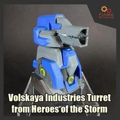 Modelos 3D Torreta de las Industrias Volskaya de Héroes de la Tormenta, FunbieStudios