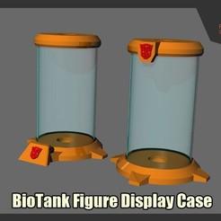 Descargar archivos STL Vitrina con Figura de Biotanque, FunbieStudios