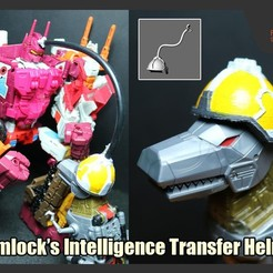 Download STL Grimlock's Intelligence Transfer Helmet, FunbieStudios