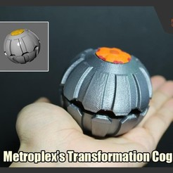 Download free 3D printer model Transformers Metroplex Transformation Cog, FunbieStudios