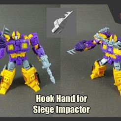 Download 3D printer templates Hook Hand for Siege Impactor, FunbieStudios