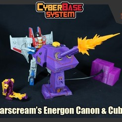 Download 3D printer designs [CyberBase System] StarScream's Energon Canon & Energon Cubes, FunbieStudios