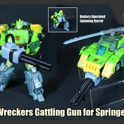 Download STL Wreckers Gattling Gun for Transformers Springer (Battery Operated), FunbieStudios
