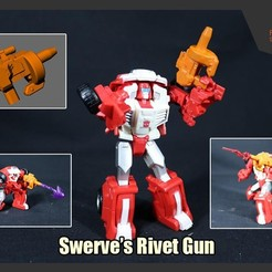 Download free 3D printing templates Transformers Swerve's Rivet Gun, FunbieStudios