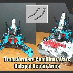 Download STL Combiner Wars Hotspot Repair Arms, FunbieStudios