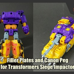 Download free 3D printer designs  Filler Plates and Canon Peg Addons for Siege Impactor , FunbieStudios