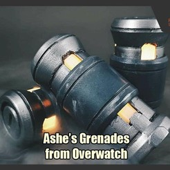 Download free 3D printing designs Ashe's Grenades from Overwatch, FunbieStudios