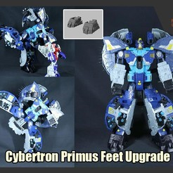 Download 3D printer files Transformers Cybertron Primus Feet Upgrade, FunbieStudios