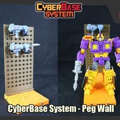 Télécharger fichier 3D [Système CyberBase] Peg Wall Addon, FunbieStudios