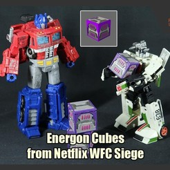 Download 3D printer templates Energon Cubes from Netflix WFC Siege, FunbieStudios