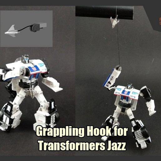 Download free STL files Grappling Hook for Transformers Jazz, FunbieStudios