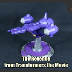 Download STL files The Revenge (Galvatron's Ship) from Transformers the Movie, FunbieStudios