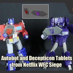 TF_Tablets_FS.JPG Download free STL file Autobot and Decepticon Tablets from Transformers Netflix WFC Siege • 3D printing design, FunbieStudios