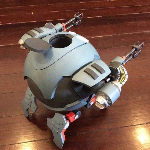 02.jpg Download STL file Hammond's Wrecking Ball Mech from Overwatch • 3D printer template, FunbieStudios