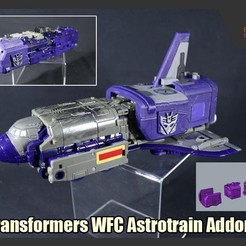 Download STL files Addons for Transformers WFC Astrotrain, FunbieStudios