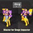 Download 3D printer model Blaster for Transformers Siege Impactor, FunbieStudios
