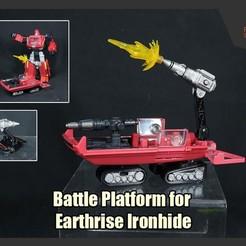 Ironhide_BattlePlatform_FS.JPG Download STL file Battle Platform for Transformers Earthrise Ironhide • 3D printing design, FunbieStudios
