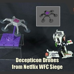 DeceptionDrones_FS.JPG Download STL file Decepticon Drones from Netflix Transformers WFC Siege • 3D printing model, FunbieStudios