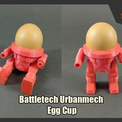 Imprimir en 3D gratis Copa Urbanmech Egg de Battletech, FunbieStudios
