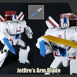 Download 3D printer templates Jetfire's Arm Blade, FunbieStudios