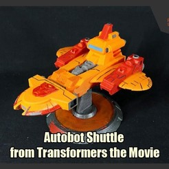Download 3D printing models Autobot Shuttle from Transformers the Movie, FunbieStudios