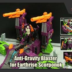 Scorponok_Gun_FS.jpg Download STL file Anti-Gravity Blaster for Transformers Earthrise Scorponok • 3D printer design, FunbieStudios