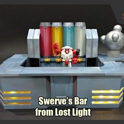 Download 3D printer designs Transformers Swerve's Bar from Lost Light, FunbieStudios