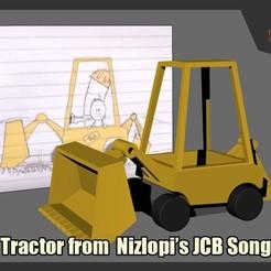 Download free STL Nizlopi's JCB Tractor , FunbieStudios