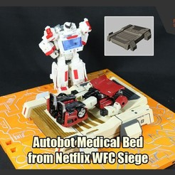 Download 3D printer templates Autobot Medical Bed from Netflix WFC Siege, FunbieStudios