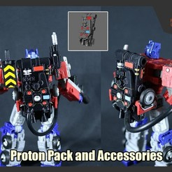 Download STL files Proton Pack and Accessories for Transformers, FunbieStudios