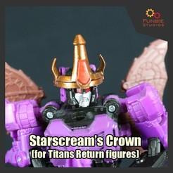Descargar archivos 3D gratis La Corona de Starscream para los Titanes devuelve cifras, FunbieStudios