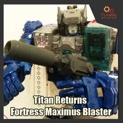 Télécharger modèle 3D Transformateurs Titans Retours Titans Fortress Maximus Blaster Fortress, FunbieStudios