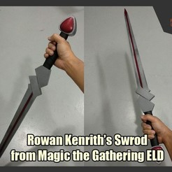 Descargar modelo 3D gratis Espada de Rowan Kenrith de Magic the Gathering ELD, FunbieStudios